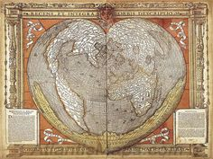 old world map by Oronteus Finaeus