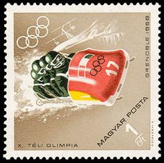 Bobsleigh, Winter Olympics, Olympic Games, Postage Stamps, Sport, Vancouver, Ski, Posters, Vintage