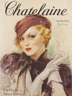 A classic almost New Yorker-style design / September 1934, Chatelaine