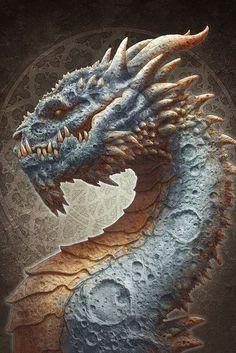 Moon Dragon by kerembeyit (print image)