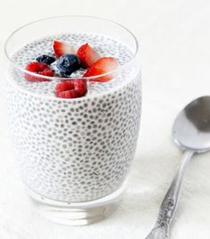 chia seed pudding with coconut milk and almond milk