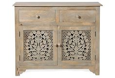 Martha Carved Wood Sideboard, Gray on OneKingsLane.com