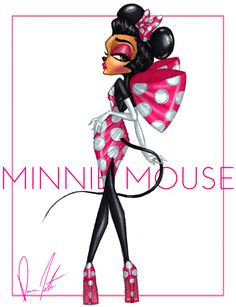 Minnie and Daisy Collection, Minnie Spotted in Pink! by Daren J