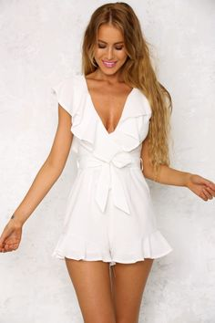 Days Go By Playsuit White
