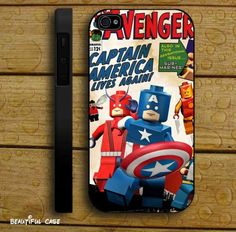 Avengers Hero Lego iPhone Case and Samsung Galaxy Case
