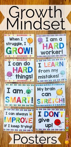 Do you teach your students about growth mindset? Are you aware of the benefits of using positive affirmations? Combine these two powerful approaches and transform student achievement! Easy to use for teachers and super beneficial for students, these 23 af Social Emotional Learning, Social Skills, Classroom Displays, Classroom Organization, Classroom Management, Beginning Of School, Back To School, Growth Mindset Posters, Bulletins