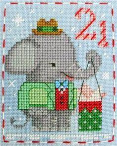 Name: 'Embroidery : BBP Advent Animal Ethan Elephant Cross Stitch Freebies, Cross Stitch Charts, Cross Stitch Designs, Cross Stitch Patterns, Cross Stitching, Cross Stitch Embroidery, Hand Embroidery, Cross Stitch For Kids, Cross Stitch Animals