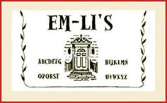 Em- Li's is the retail portion of our business. We carry charts and kits from dozens of well-known designers, as well as a wide assortment of fine linen, as well as threads, and supplies.