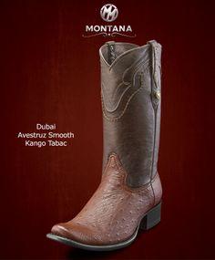 #Montana #Botas #Dubai #AvestruzSmooth #Modelo DB103A2 #Color KangoTabac #MontanaisBack
