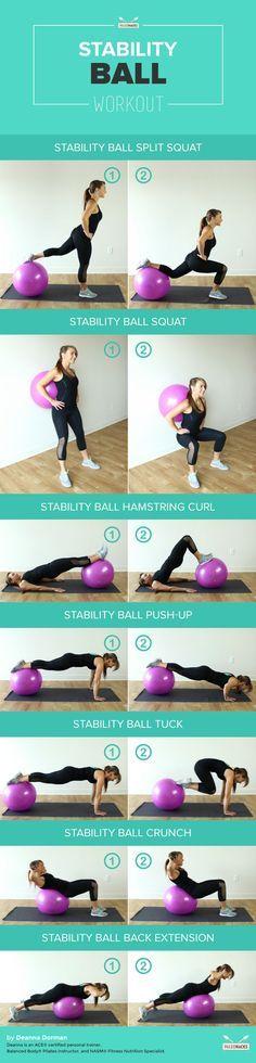 Ballon de Fitness: 7 Exercices à Réaliser avec un swiss ball (ballons de gym, ballon d'exercice suisse…)