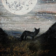 Online gallery displaying original mixed media artwork for sale. The Snow Child, A Kind Of Magic, Moon Magic, Mixed Media Artwork, Online Gallery, Dusk, Printmaking, Illustration Art, Canvas Art