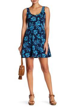 Fit & Flare Knit Skater Dress