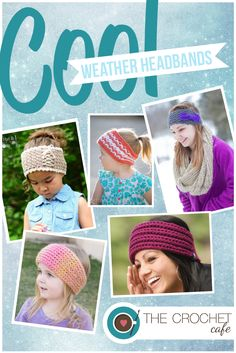 Cool Weather Crochet Headbands, Headwraps, and Earwarmers