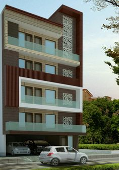 Proposed Elevation At New Delhi Building House Home Design Plans Plan