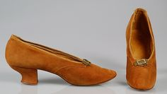 Slippers, ca. 1891, American. Leather.