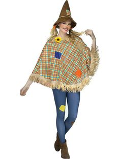 Check out Adult Scarecrow Poncho | Costume SuperCenter | Buy Yours On Sale from Costume Super Center