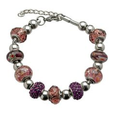 Purple Hues Pandora Style Charm Bracelet Metro Jewelry. Save 64 Off!. $17.99. Exquisite Purple Beads. Brilliant Purple Crystals. Lobster Claw Clasp. Stainless Steel