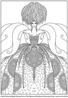 Erte Harpers Coloring Page