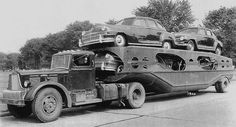 Brockway with late 40s Chryslers by PAcarhauler, via Flickr    Towing  Auto Transporter Insurance www.TravisBarlow.com