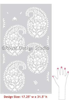 Indian Paisley Wall Stencil for Ethnic von royaldesignstencils, $49,00