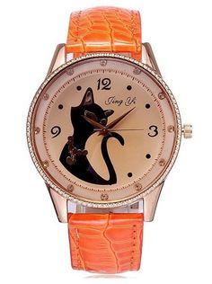 f0d1d7725c9 Reloj para amante de los gatos. Carrie Jimenez · Tic Tock · 2014 Fashion  Leopard Watch Analog Quartz Women Dress Watches leather strap ...