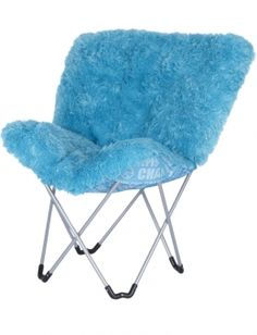 Image detail for -Justice - Turquoise Monster Fur Butterfly Chair customer reviews ...