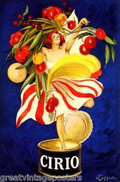 Cirio Italian Food Company Canning Girl Italy Cappiello Vintage Poster Repro | eBay