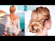 Day to Night hairstyles ★ Boho chic braid ★ Soft updo for medium/long hair tutorial - YouTube