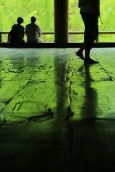 """The Green Leaf Floor"" at Senjokaku of Itsukushima shrine, Hiroshima, Japan"