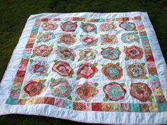 I've got to make once of these!  A French Rose Quilt.