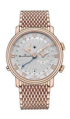 68de016723e Blancpain Villeret Reveil GMT - gold bracelet Relógios De Luxo