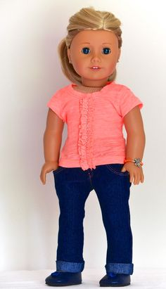 18 inch American Girl  Doll Clothing Skinny by Simply18Inches, $58.00