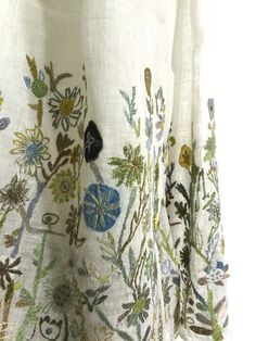 Sophie Digard - Naive Embroidered Scarf 4114c