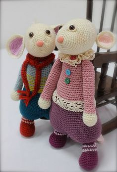 Herbie & Hetty Mouse pattern by Laurie Leonard