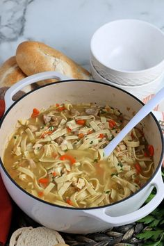 Turkey Noodle Soup is just like a classic chicken noodle soup but made with leftover turkey, it's nourishing, filling and a family favorite. Turkey Noodle Soup, Chicken Noodle Soup, Healthy Soup, Healthy Recipes, Easy Recipes, Leftover Turkey, Leftovers Recipes, Family Meals, Family Recipes