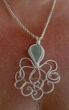 Ss blue sea glass octopus #seaglassjewelry
