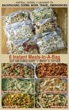 Healthy & easy meals for backpacking, camping, dorms, office, & travel with International flavors: Asian, Mexican, and Italian.