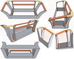 Assembly drawing of the sofa frame model Woodworking Furniture, Furniture Plans, Luxury Furniture, Furniture Design, Furniture Online, Furniture Stores, Diy Sofa, Modern Sofa Designs, Muebles Living