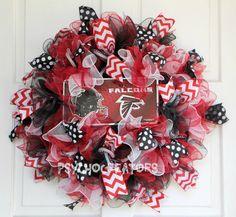 SUPERBOWL Atlanta Falcons Wreath  Football by PsychoCreators