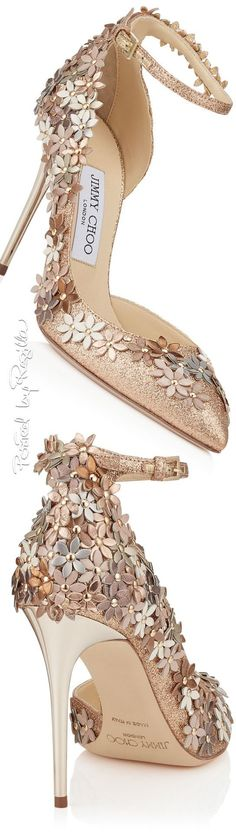 gold flower jimmy choo heel