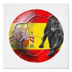 Spanish flag - soccer ball