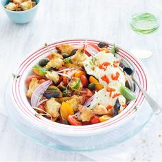 Légumes grillés en salade, câpres et mozzarella