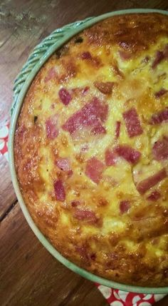 HcG diet recipe phase 3 P3 Poblano Ham Crustless Quiche  pepper gluten free low carb high protein