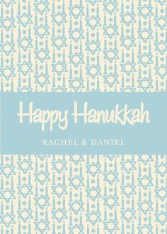 Hanukkah Pattern - Hanukkah Greeting Cards in Peppermint | Tallu-lah