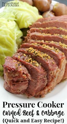 Here are directions for how to cook Corned Beef in an Instant Pot or a Pressure Cooker. A quick and easy recipe for corned beef and cabbage with potatoes. Pressure Cooker Brisket, Pressure Cooker Recipes Beef, Instant Pot Pressure Cooker, Pressure Cooker Corn Beef And Cabbage Recipe, Microwave Pressure Cooker, Instant Pot Corned Beef Recipe, Beef Gravy Recipe, Instant Pot Dinner Recipes, Pot Recipe