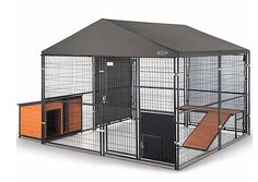 Good Free Top-rated Retriever Expandable Kennel + accessories -- I purchased thi. Good Free Top-rated Retriever Expandable Kennel + accessories — I purchased this product … Tho Dog Kennel Cover, Diy Dog Kennel, Kennel Ideas, Outdoor Dog Kennel, Cheap Dog Kennels, Airline Pet Carrier, Dog Cages, Dog Fence, Dog Yard