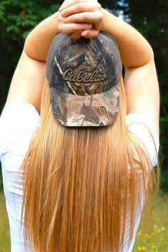 I always put a fish hook clip on my camo cap! Always the country girl style!