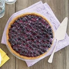 Blueberry Cream Pie - Pie Desserts - Country Living