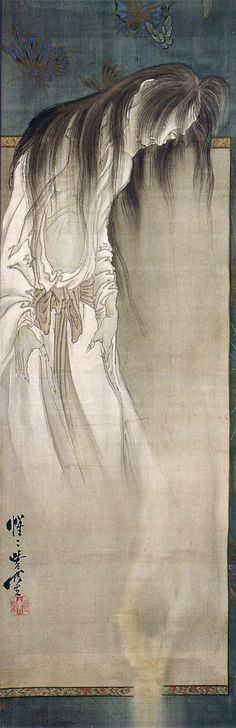 ghost paintings by Meiji-period artist Kawanabe Kyōsai (1831-1889)....awesomely masterful work here.