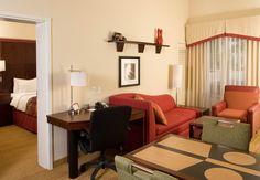 Residence Inn Ft. Myers Sanibel Hotel-2 Bedroom Suite Living Area Workdesk Area http://www.marriott.com/hotels/event-planning/travel/rswrs-residence-inn-fort-myers-sanibel/